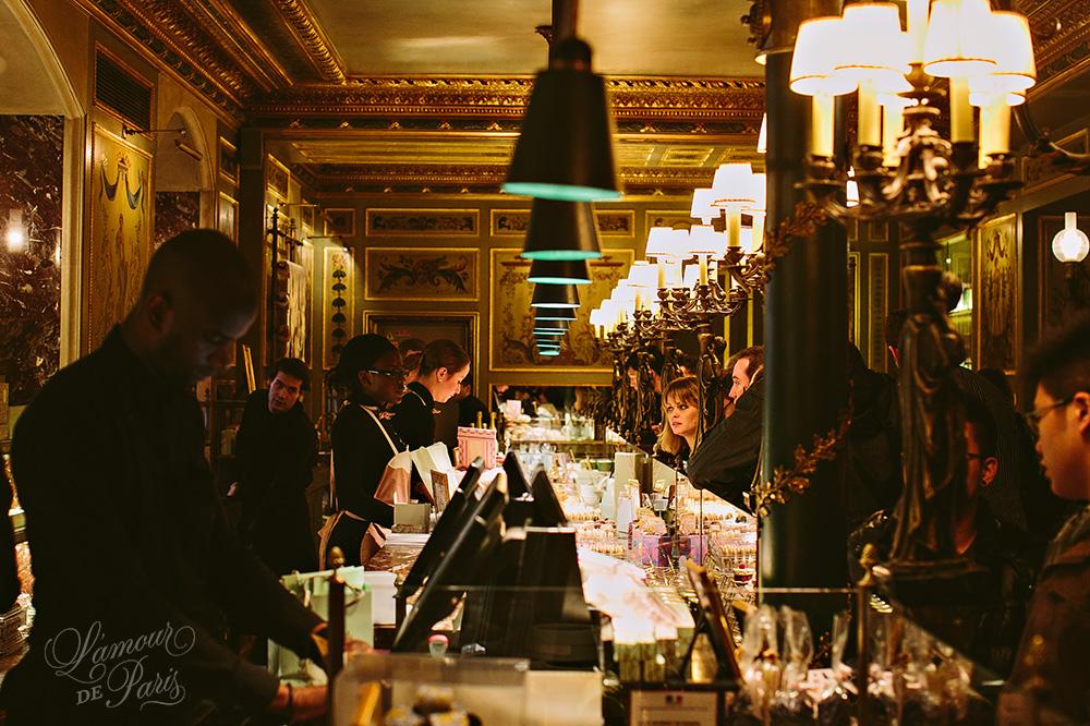 Laduree macaroon shop on the Champs Elysees in Paris