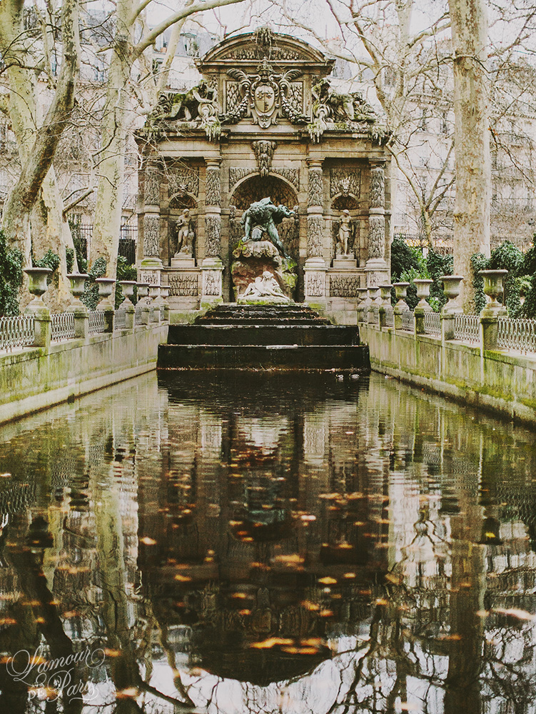 Medici Fountain at the Jardin du Luxembourg by Paris photographer Stacy Reeves