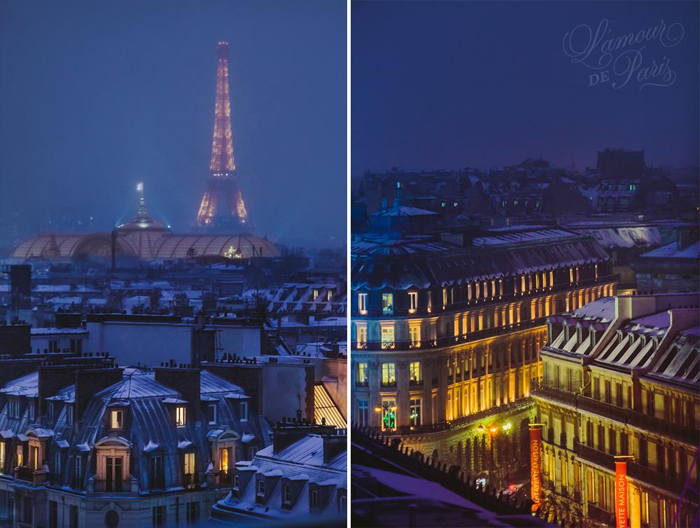 Snowy Paris Rooftops � L'Amour de Paris || Romantic Parisian ...