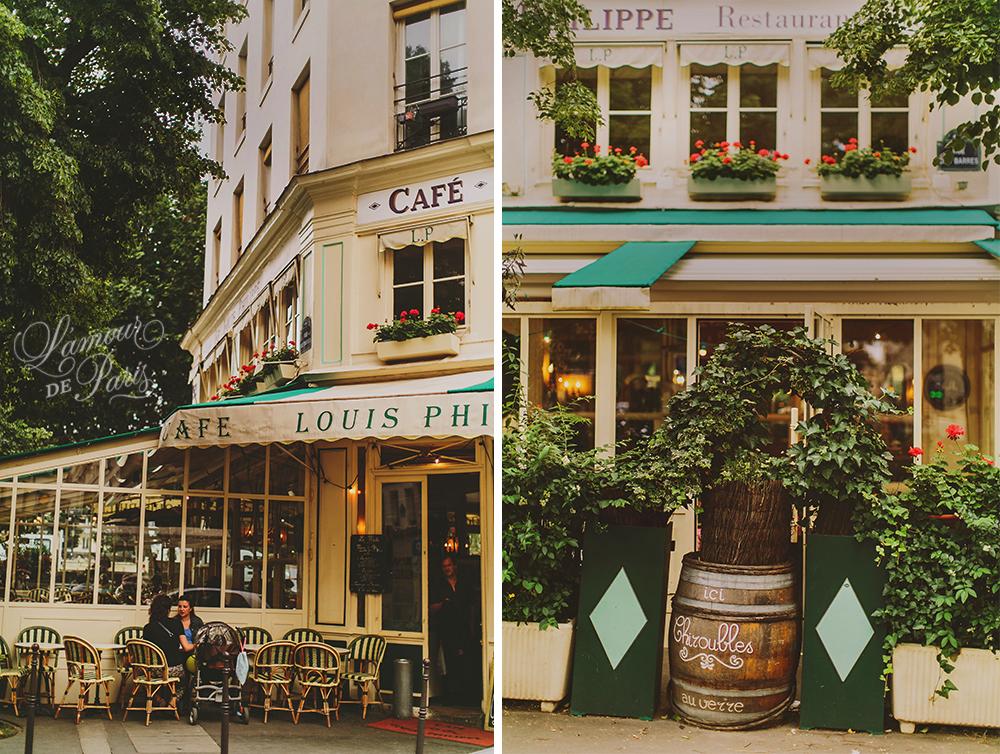 Dining In Paris Cafe Louis Philippe 187 L Amour De Paris