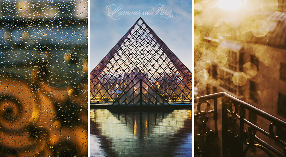 Rainy Paris Sunsets by photographer Stacy Reeves