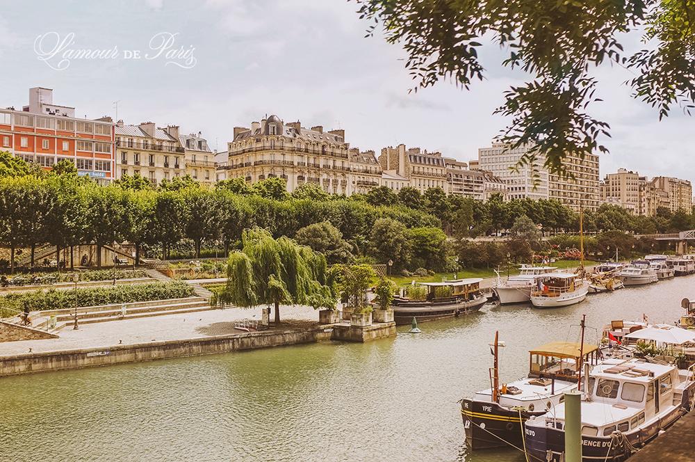Paris architecture along the Canal Saint Martin