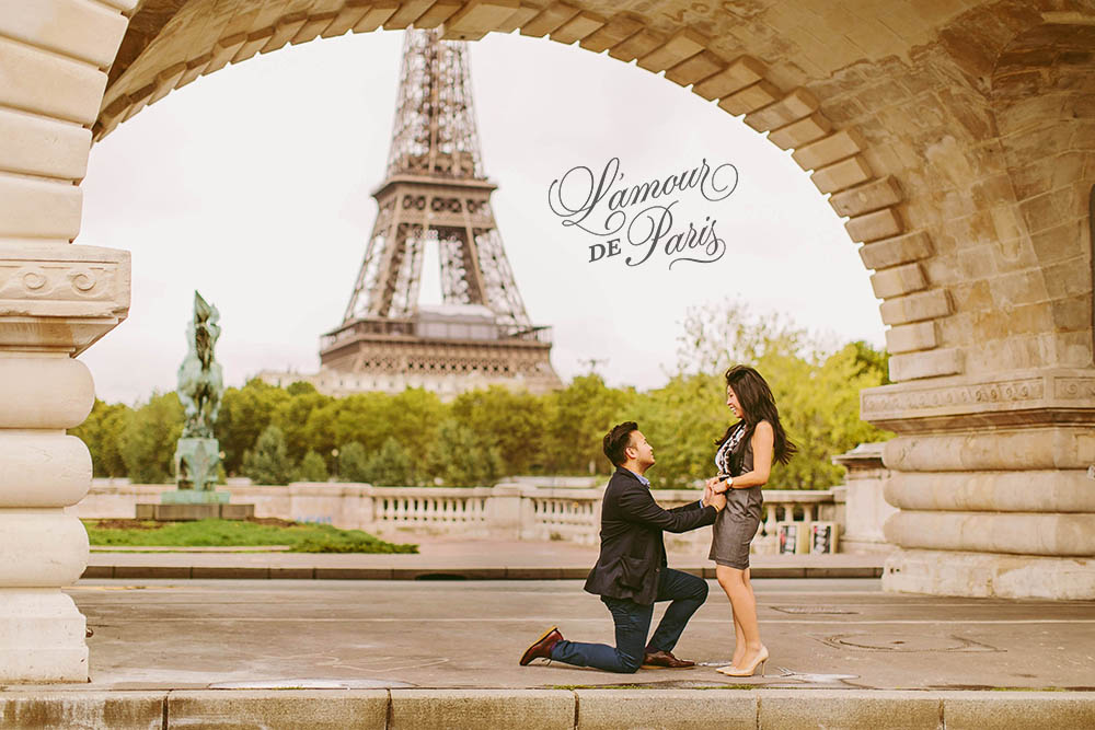 Surprise Paris proposal and portrait photo session