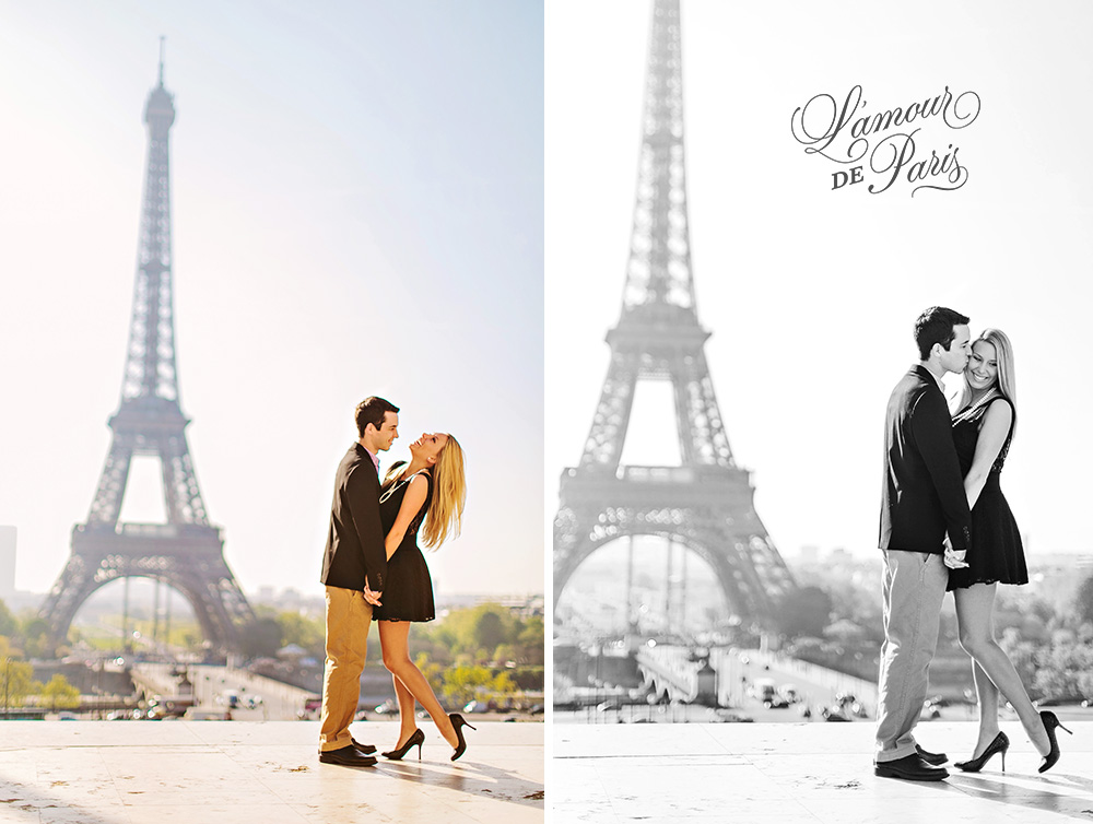 Cute Paris engagement session