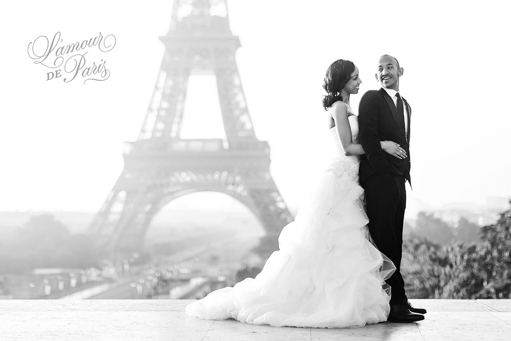 Stunning wedding photos in Paris by the Eiffel Tower by Lamour de Paris