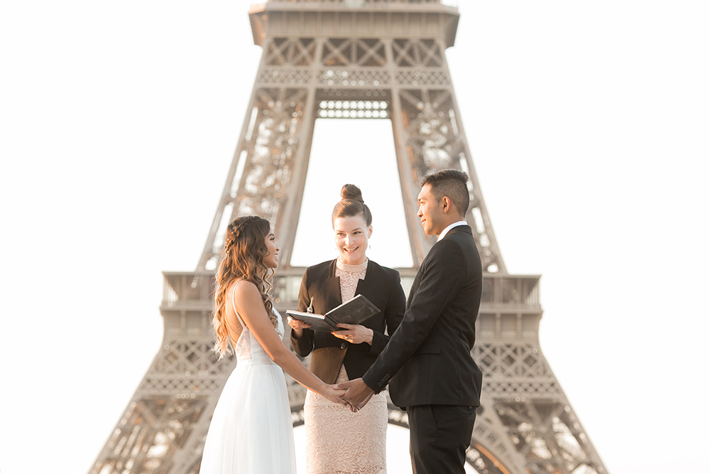 paris elopement officiant