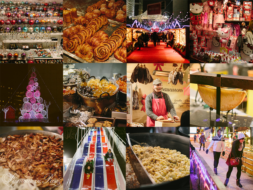 Photos of the Paris Christmas markets at the Champs Elysees
