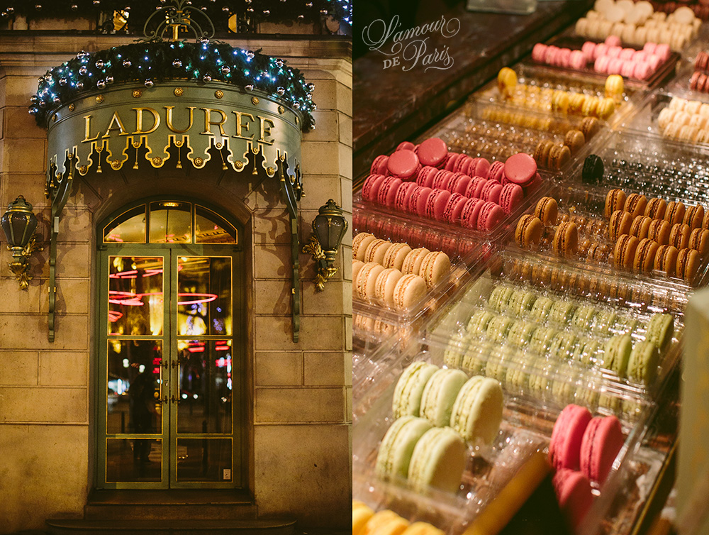 Laduree macaroon shop on the Champs Elysees in Paris