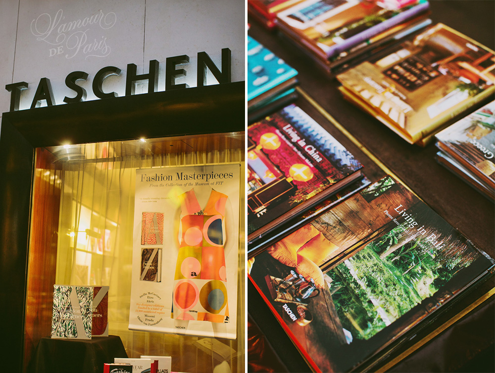The famous Taschen Bookstore in Saint Germain des Pres in Paris