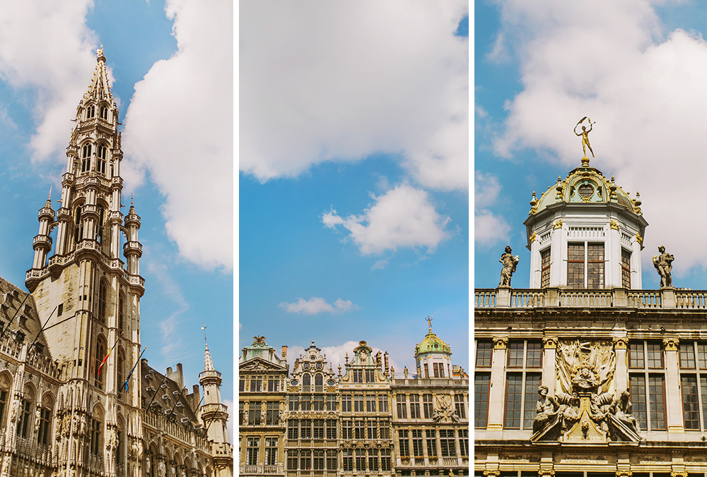 Town Hall and other architecture on the Grand Place in Brussels, Belgium