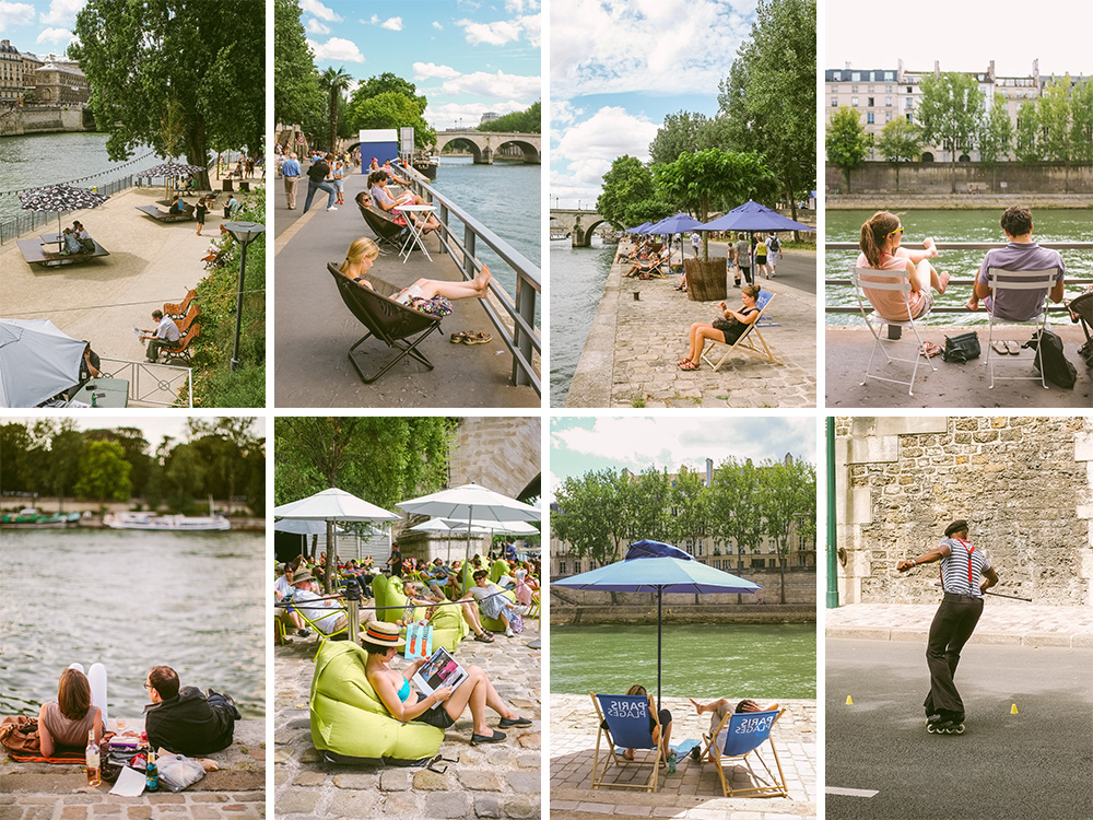 Photos of Paris Plages by Paris photographer Stacy Reeves
