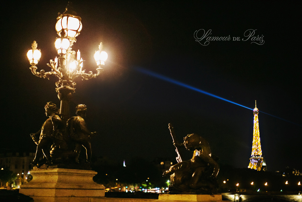 Eiffel Tower at night, by Paris photographer Stacy Reeves