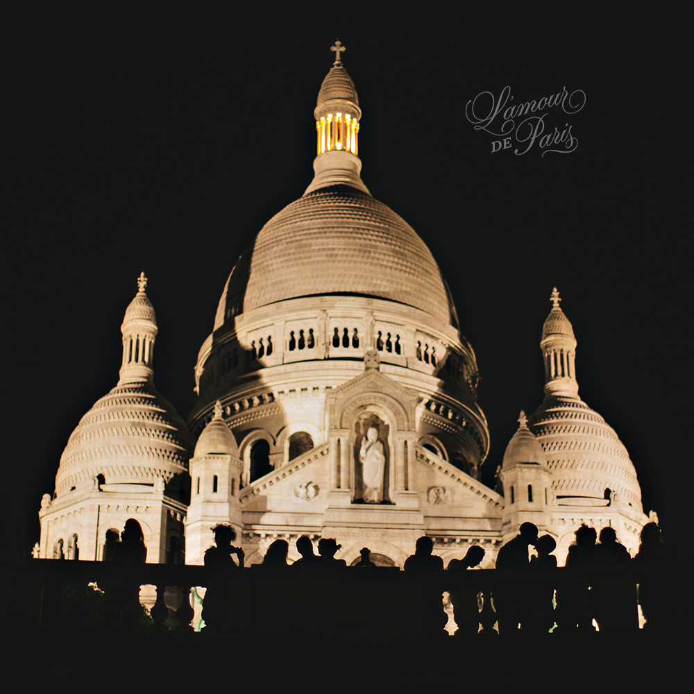 Sacre Coeur at Night by Paris photographer Stacy Reeves
