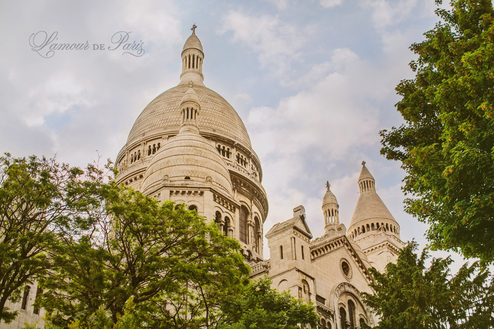Sacre Coeur church in Montmartre in Paris