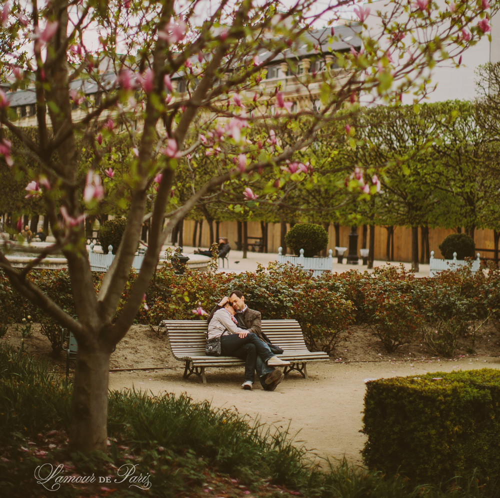 Lovers in a Paris Garden