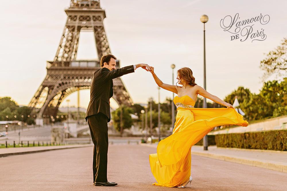 Paris engagement photo session