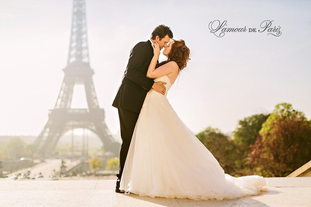 Eiffel Tower Bride And Groom Portrait Session In Paris