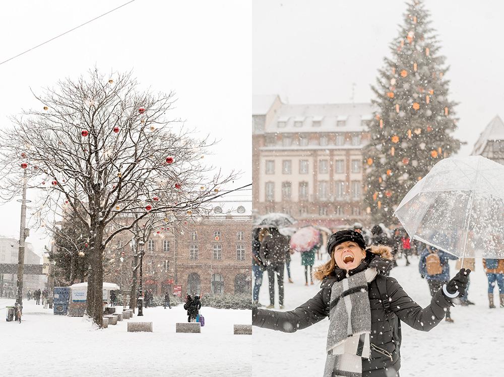 Strasbourg France Christmas Markets Capitale de Noel 2017 snow -02