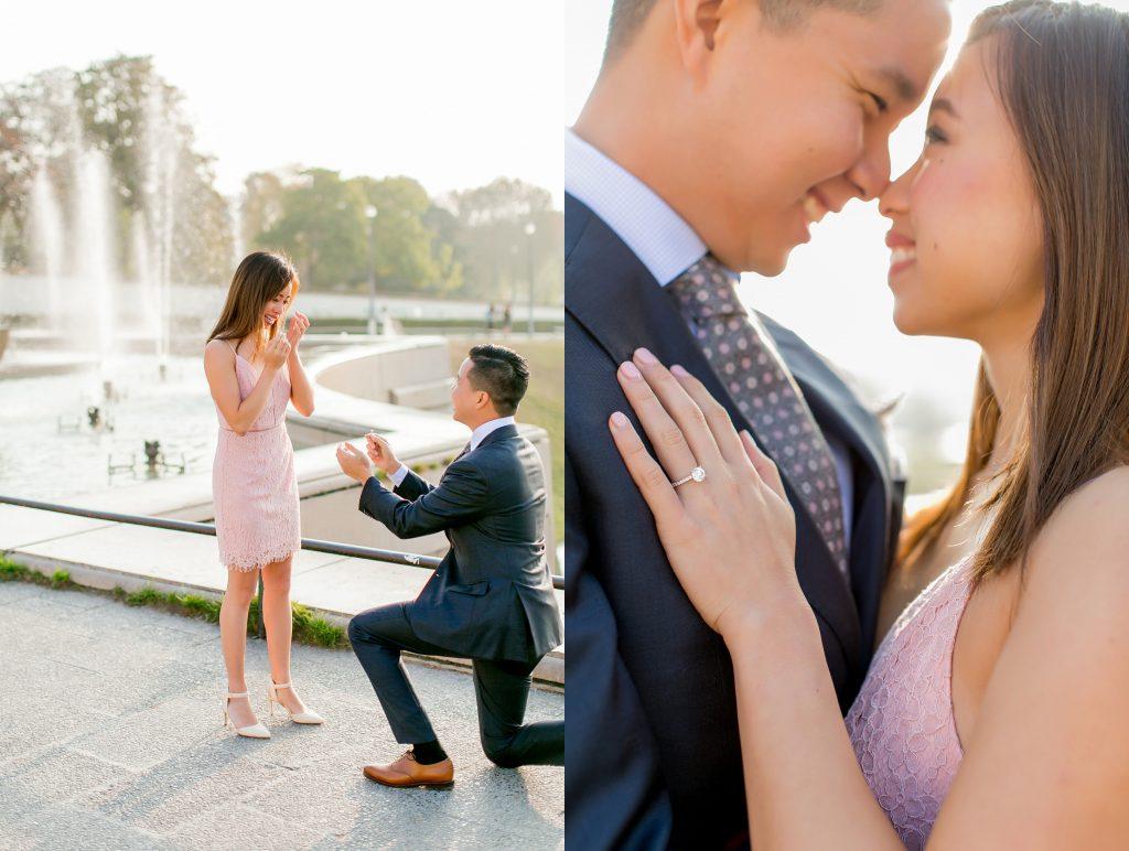 proposing in paris near the eiffel tower