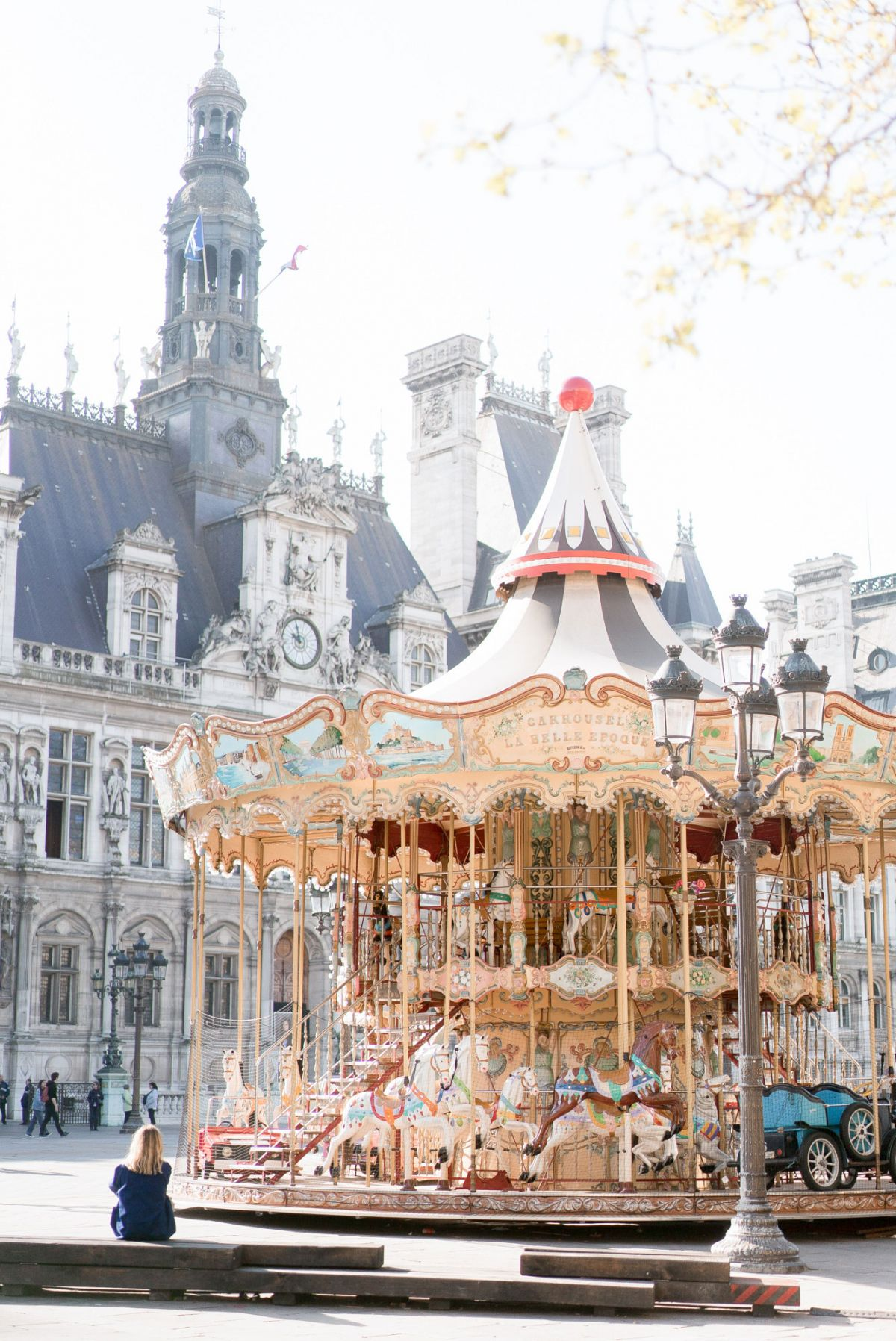 carousel at hotel de ville in paris