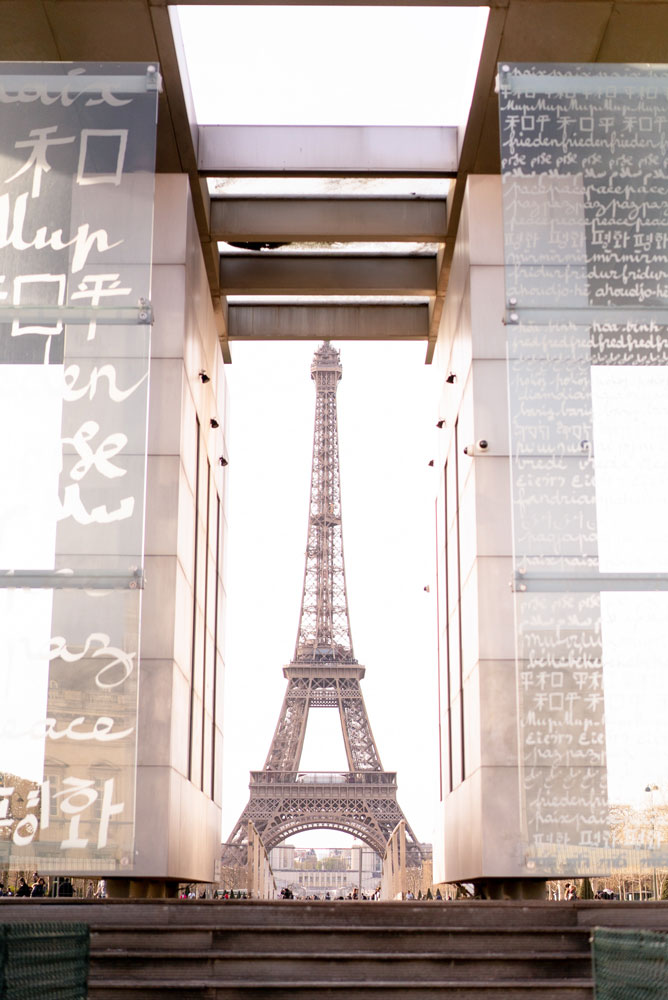 eiffel tower peace wall
