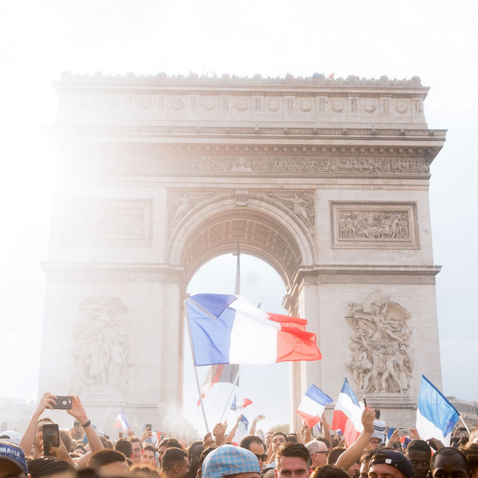 arc de triomphe world cup celebration in france