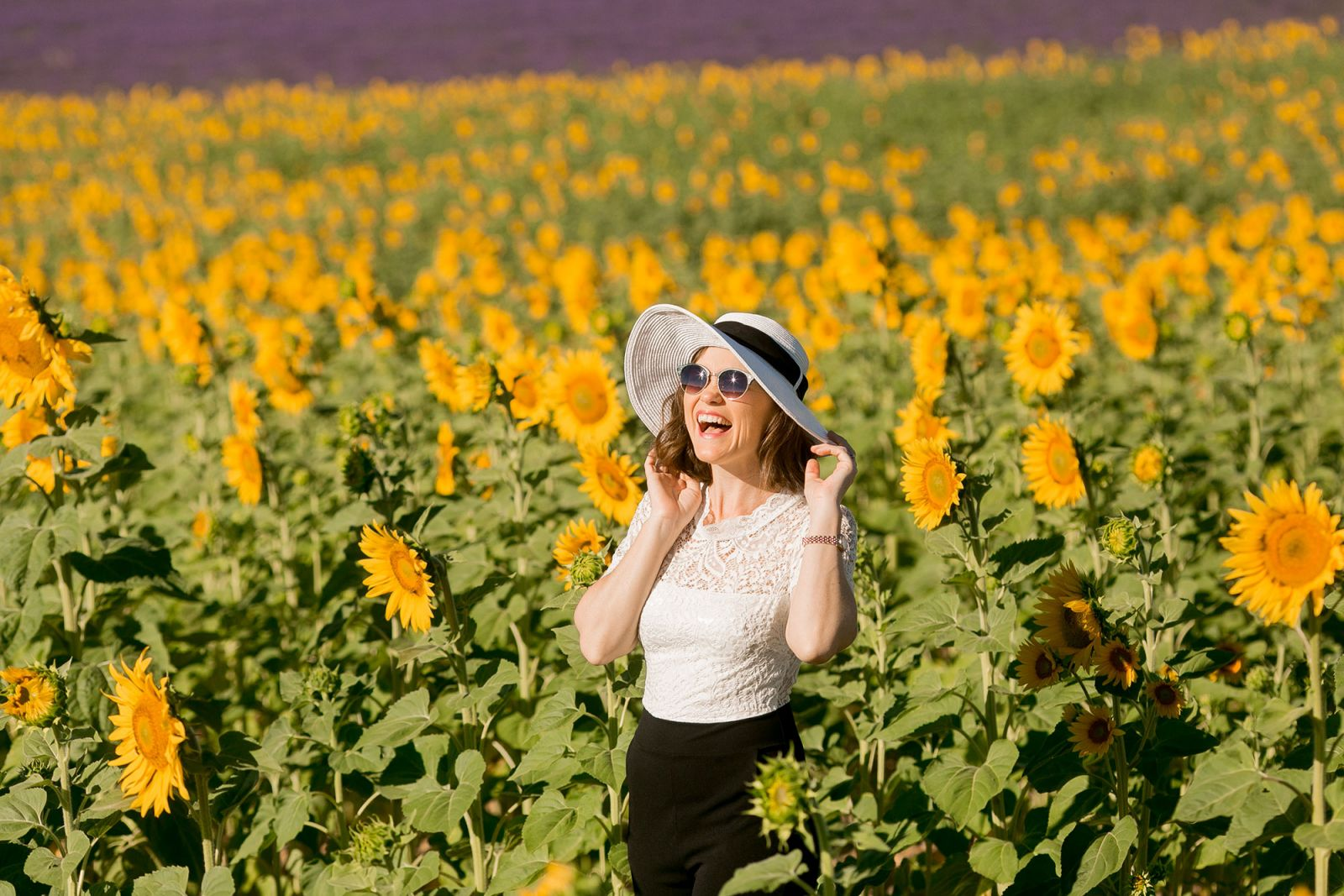 Paris Photographer in Sunflowerer Fields of Provence