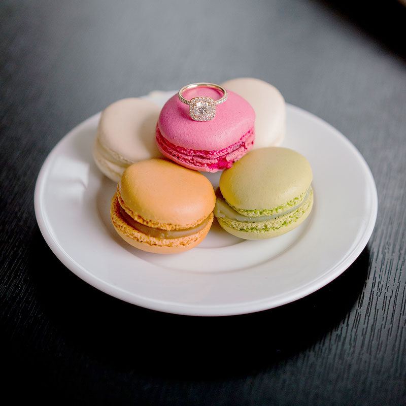 macaroons-with-engagement-ring-in-paris